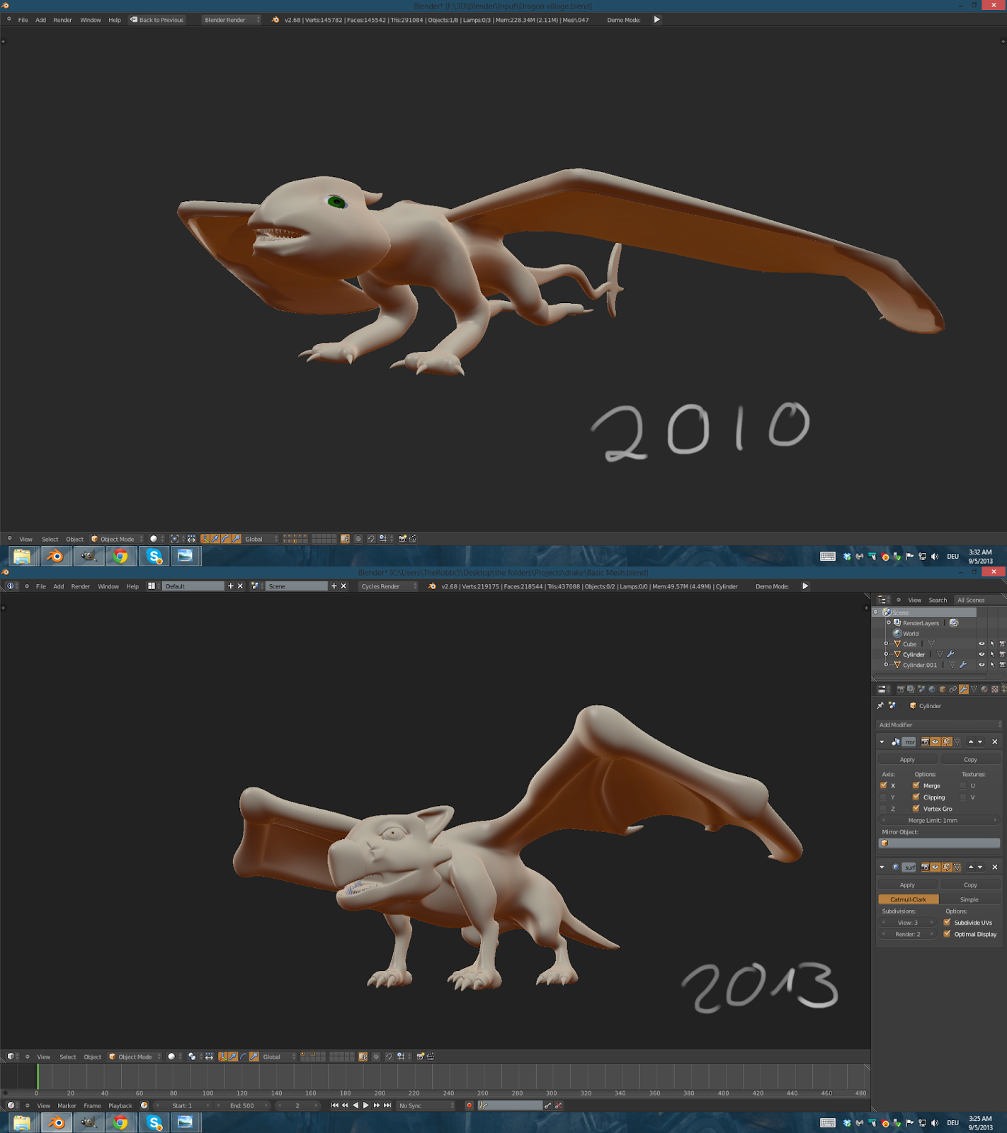 Dragon modelling improvement