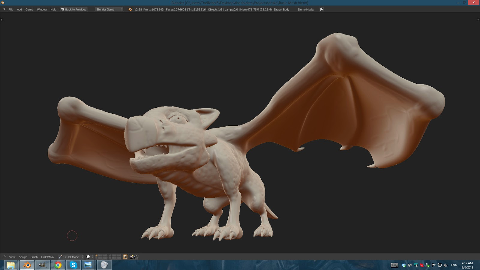 Dragon Sculpt Blender Screenshot