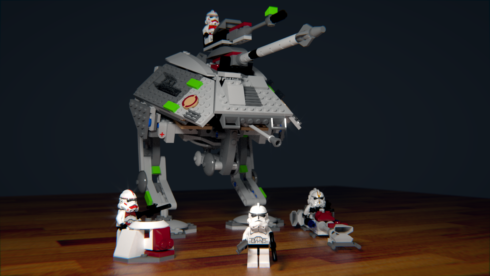 Lego Star Wars at-ap blender cycles render