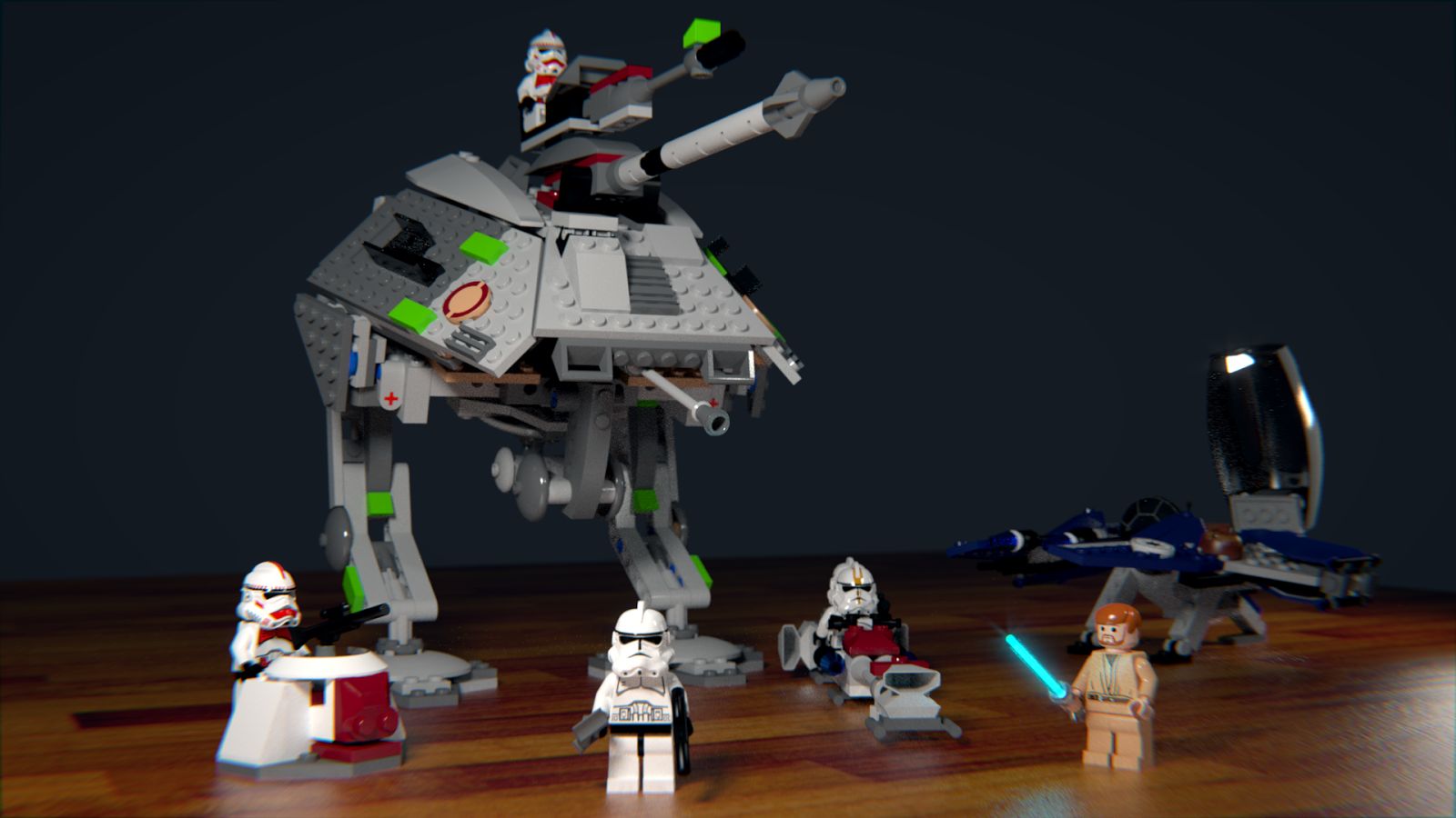Lego Star Wars Jedi Fighter blender cycles render