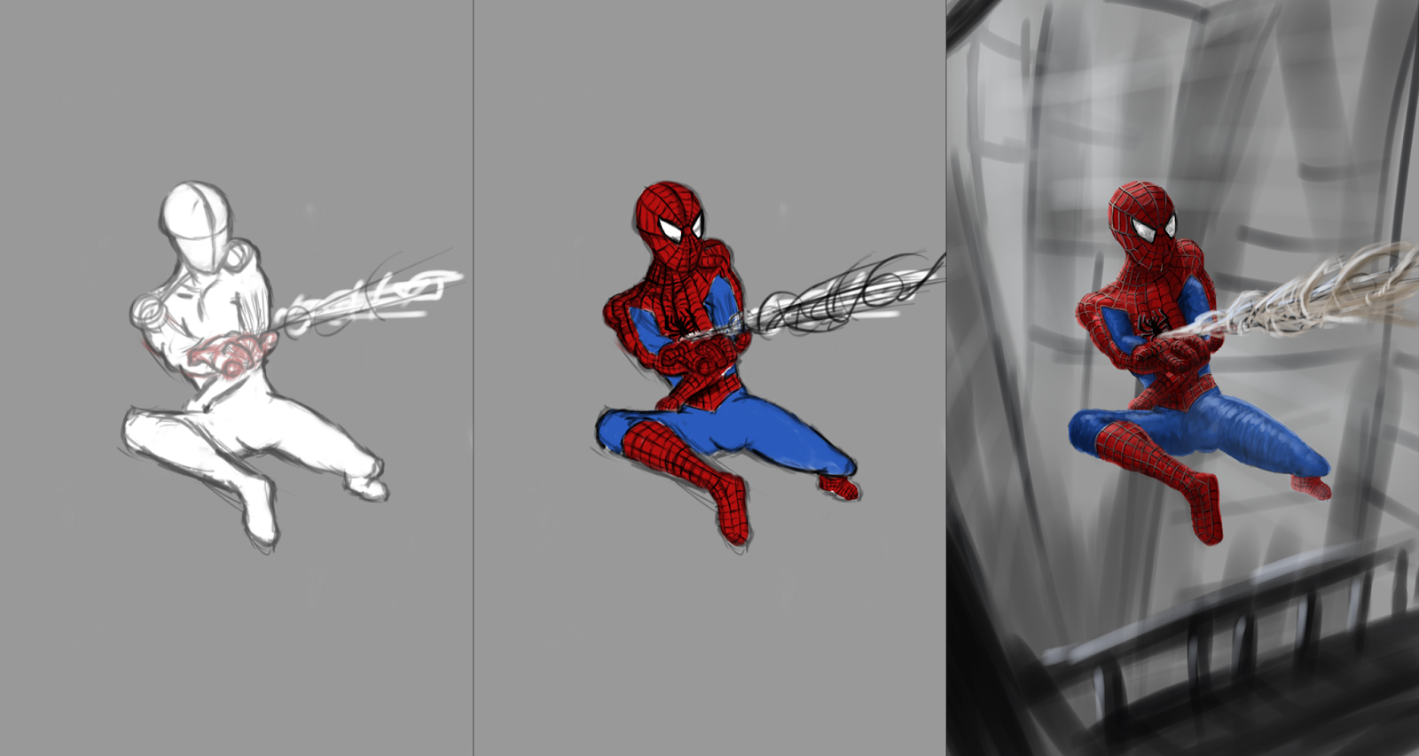 Spiderman autodesk sketchbook pro painting