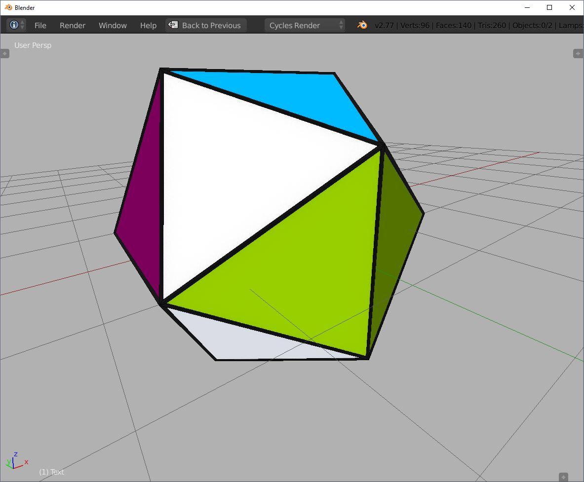 icosahedron blender icosphere triangle wireframe