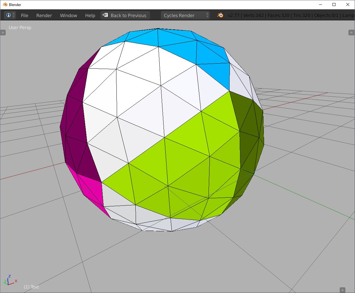 icosahedron blender icosphere subdivision