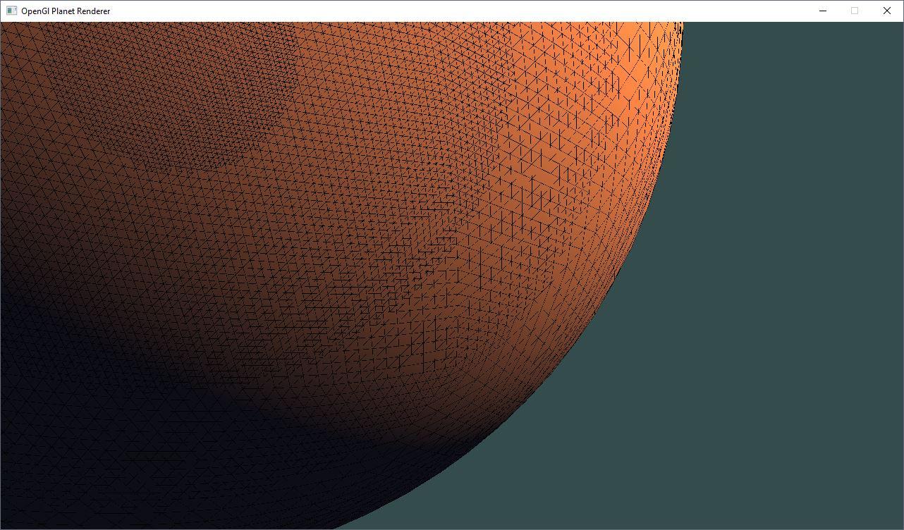Sphere planet subdivision LOD terrain rendering Robert Lindner
