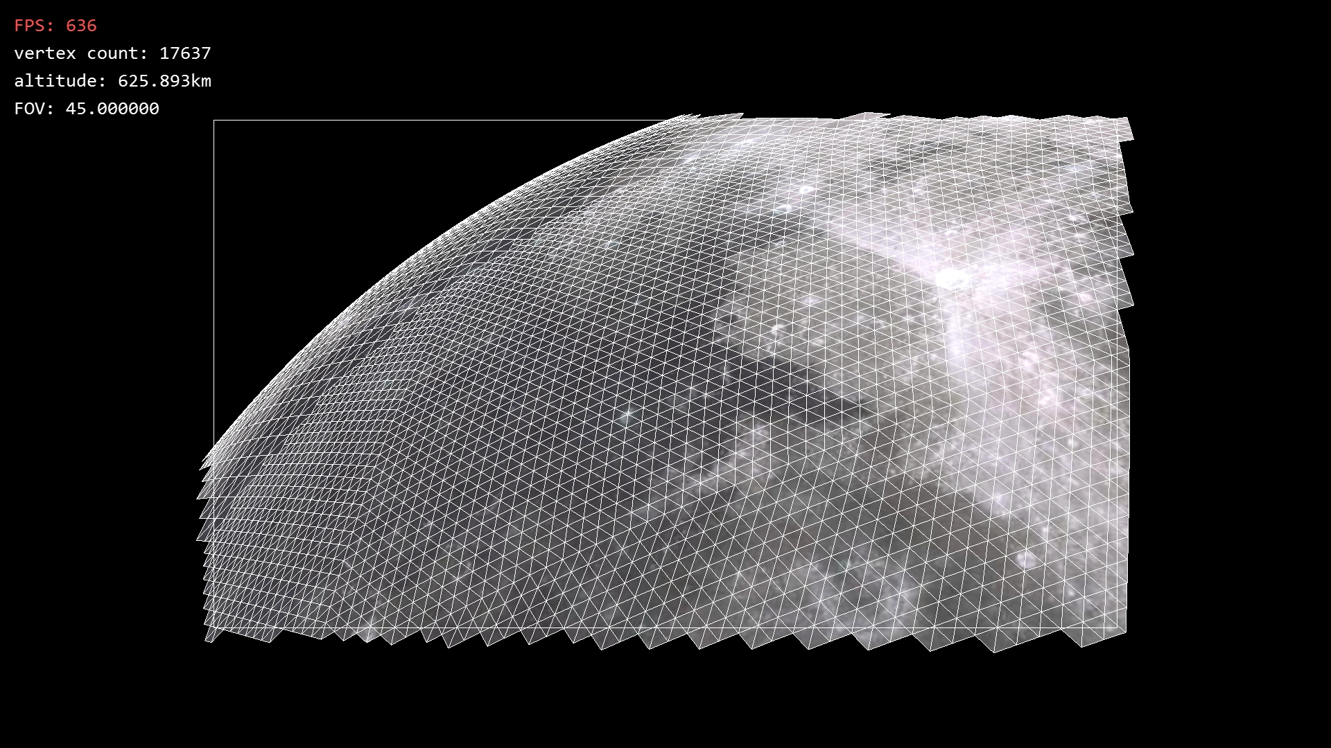 Terrain Icosahedron planet renderer geometry view space frustum culling