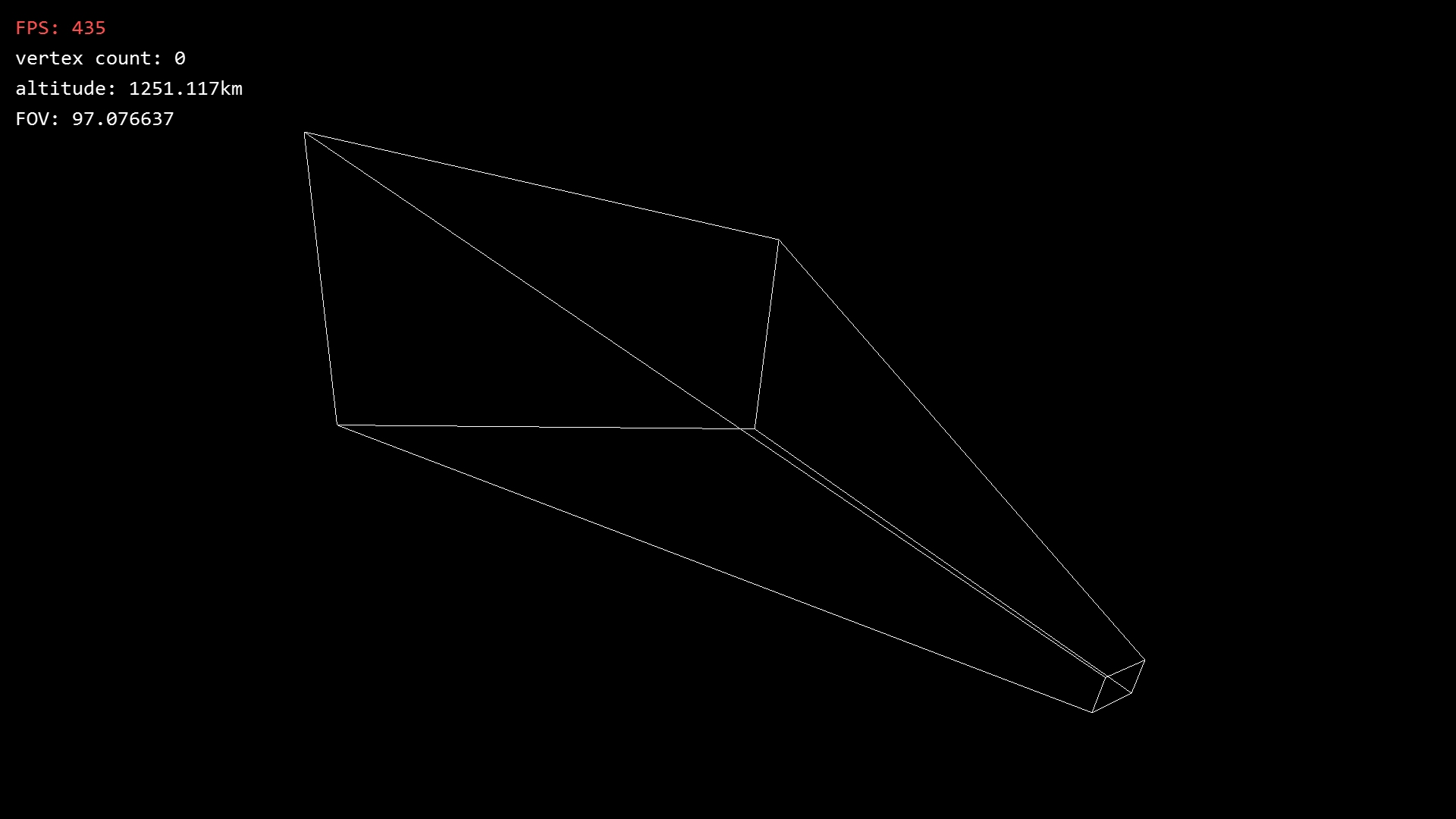 Camera view clipping frustum terrain generation c++ opengl