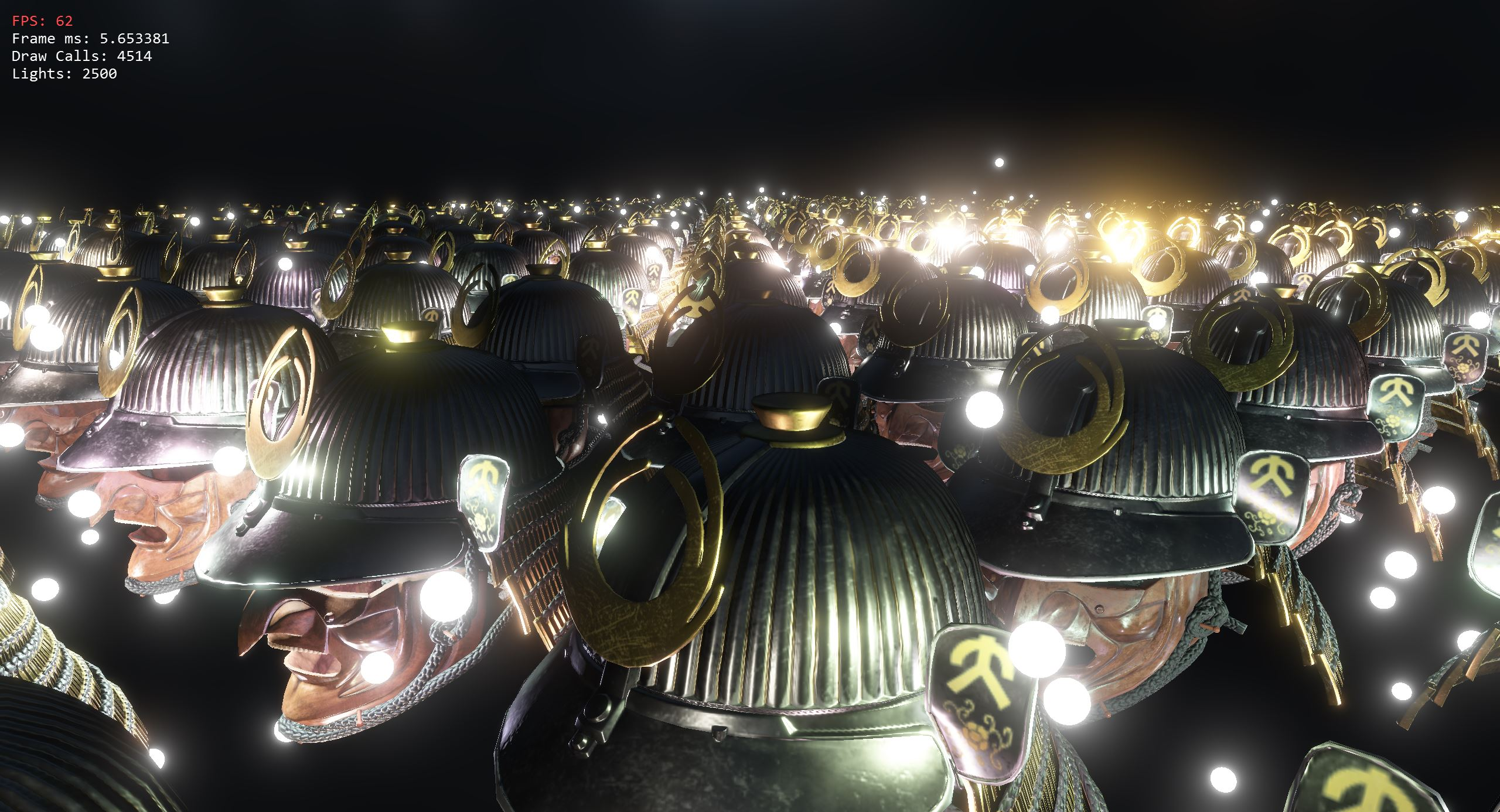 Screenshot of the open gl shading with multiple lights