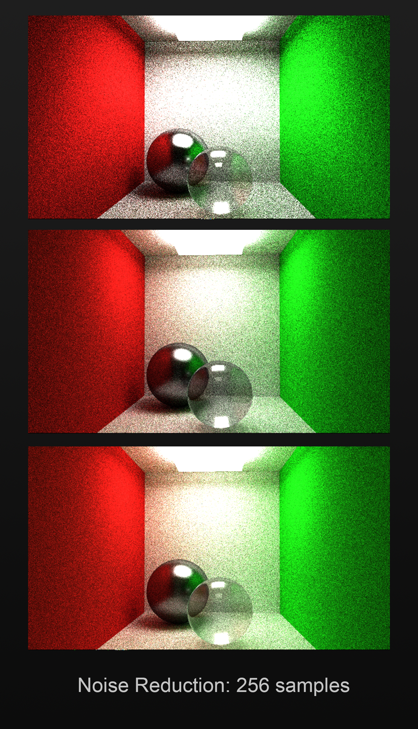 Noise reduction in LightWhat pathtracer