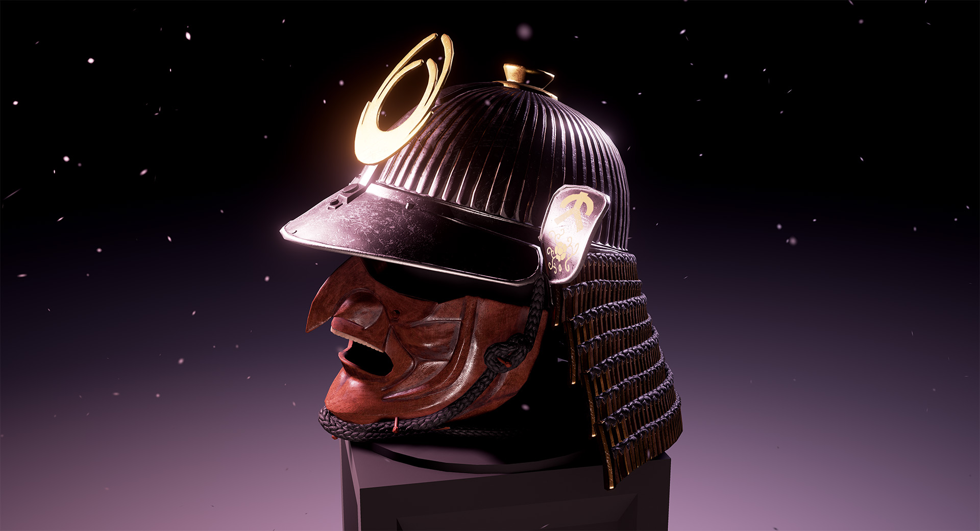 pbr kabuto samurai helmet unreal engine 4 render screenshot
